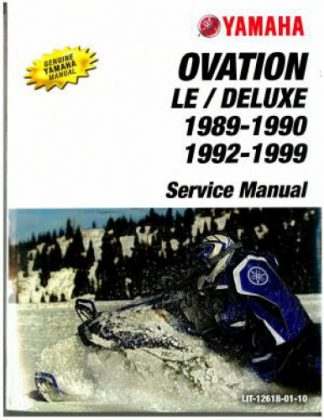 Official 1989-1990 And 1992-1999 Yamaha Ovation CS340 Snowmobile Factory Service Manual