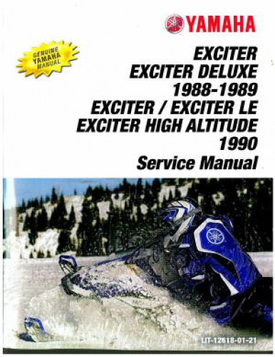 Official 1988-1990 Yamaha Exciter EX570 Snowmobile Factory Service Manual