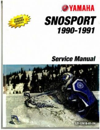 Official 1990-1991 Yamaha SnoSport SV125 Snowmobile Factory Service Manual