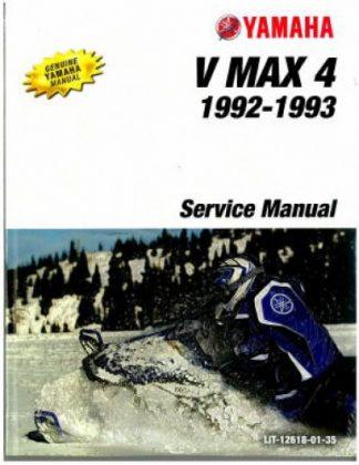 Official 1992-1993 Yamaha V Max 4 VX750 Snowmobile Factory Service Manual