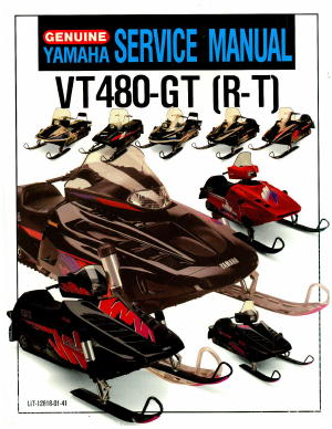 Official 1994-1997 Yamaha Venture XL VT480 Snowmobile Factory Service Manual