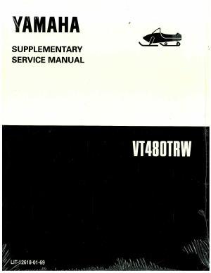 Official 1997 Yamaha Venture XL VT480A Snowmobile Factory Service Manual Supplement