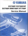 Official 2001 Yamaha VX700F VX700DXF SX700F MM700F VT700F Snowmobile Factory Service Manual
