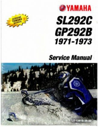 Official 1973 Yamaha GP292B And SL292C Snowmobile Factory Service Manual