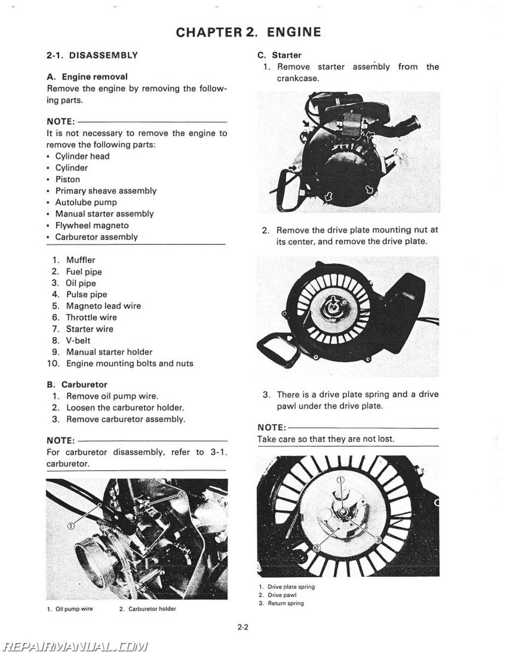 Yamaha Enticer Specifications