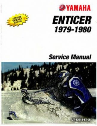 Official 1978-1980 Yamaha Enticer ET300C Snowmobile Factory Service Manual