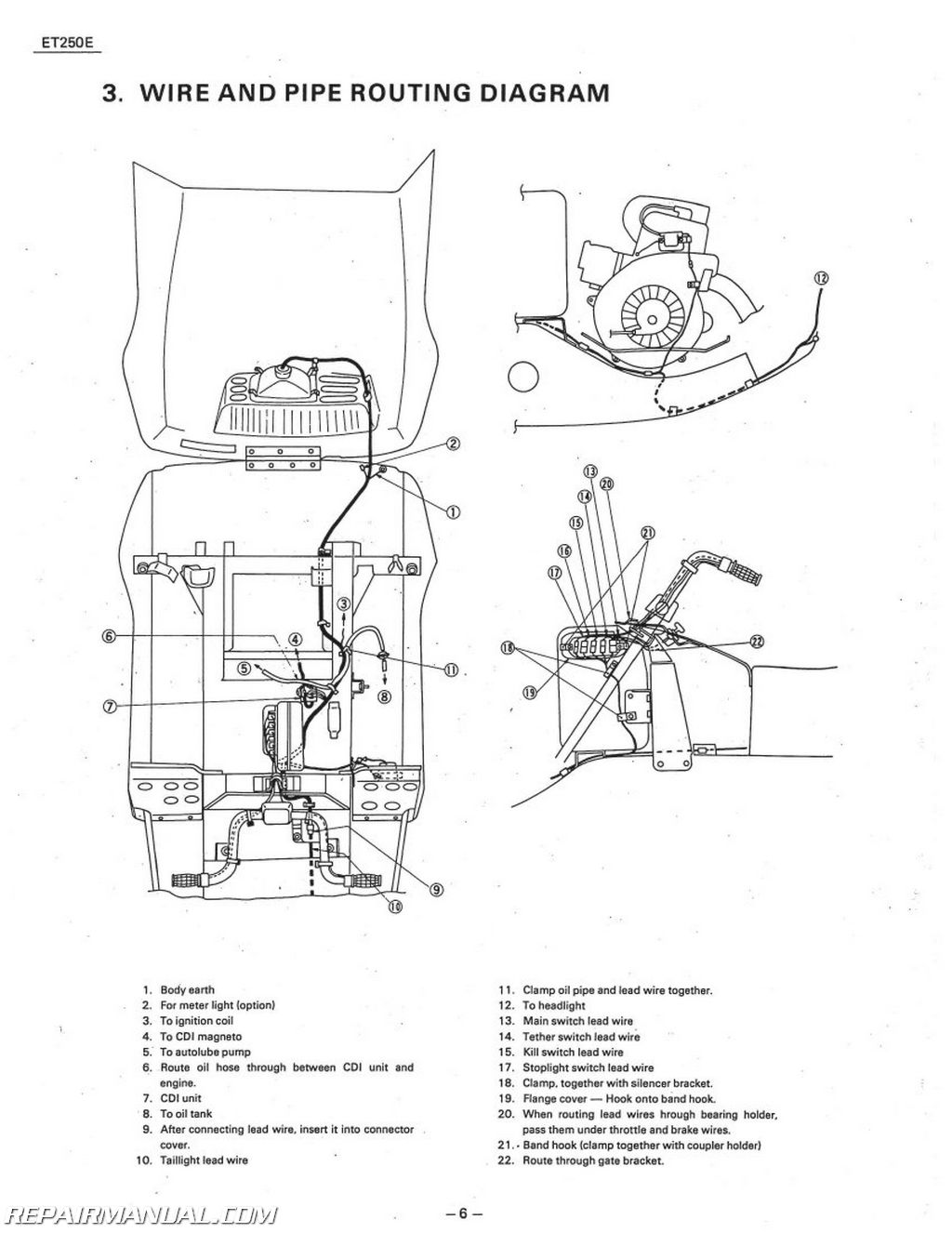 Et 250 Wiring Diagram Data Yamaha Dt 175 1978 1981 Enticer Et250 Snowmobile Service Manual Bobcat Skid Steer