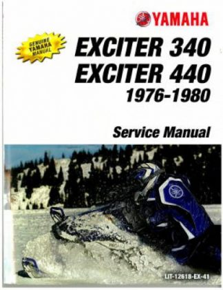 1976-1980 Yamaha Exciter EX340 EX440 Snowmobile Service Manual