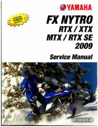 Official 2009 Yamaha FX Nytro FX10 Snowmobile Factory Service Manual
