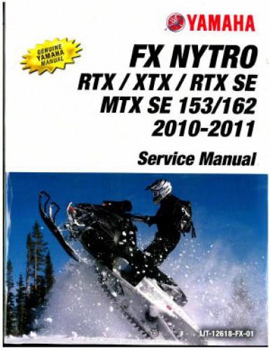 Official 2010-2012 Yamaha FX Nytro FX10 Snowmobile Service Manual