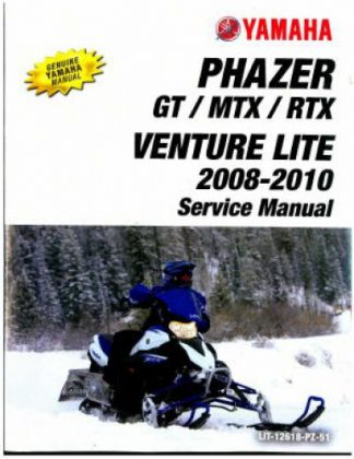 Official 2008-2010 Yamaha Phazer And Venture Lite PZ50 Snowmobile Factory Service Manual