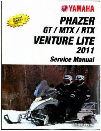 Official 2011-2012 Yamaha Phazer Venture Lite PZ50 Snowmobile Factory Service Manual