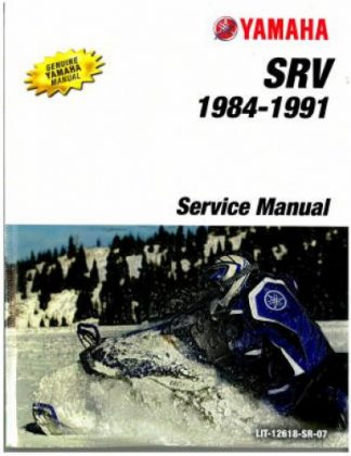 Official 1984-1991 Yamaha SR540 SRV Snowmobile Factory Service Manual