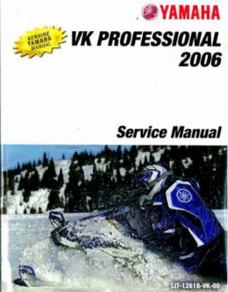 Official 2006 Yamaha VK Professional VK10L Snowmobile Factory Service Manual