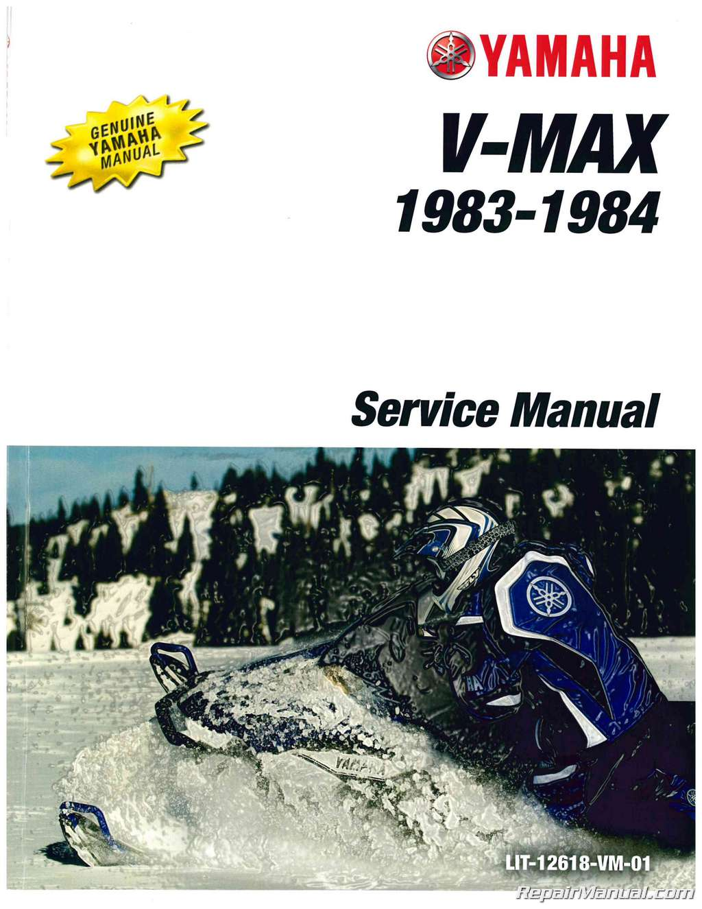 Official 1983 1984 Yamaha Vmax Vmx540gh Snowmobile Factory Service Manual Lit 12618 Vm 01 on yamaha golf cart repair manual
