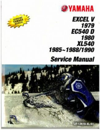 Official 1985-1990 Yamaha XLV XL540 Snowmobile Factory Service Manual