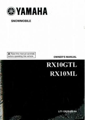 Official 2006 Yamaha APEX RX10GTL RX10ML Snowmobile Factory Owners Manual