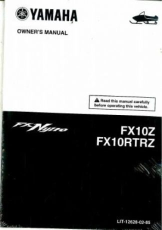 Official 2010 Yamaha FX10RTRZ FX10Z FX Nytro Snowmobile Factory Owners Manual