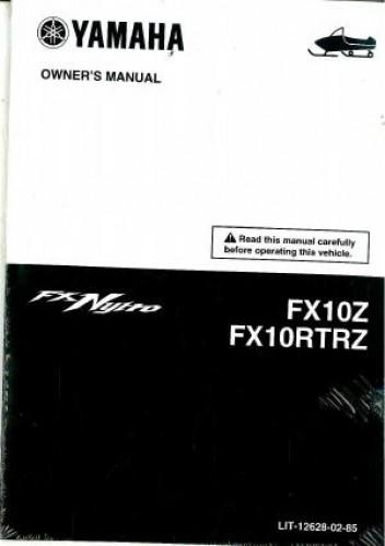 2010 yamaha fx10rtrz fx10z fx nytro snowmobile owners manual