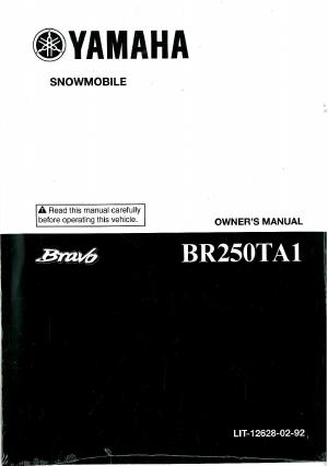 Official 2011 Yamaha Bravo BR250TA1 Snowmobile Factory Owners Manual