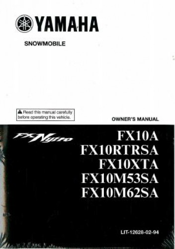 2011 yamaha fx nytro fx10 snowmobile owners manual