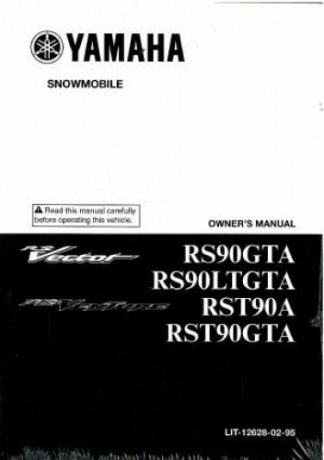 Official 2011 Yamaha RS Vector RS900GTAS/LTGTAS Snowmobile Factory Owners Manual
