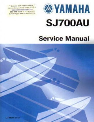 Official 1997-2012 Yamaha SJ700B Superjet Factory Service Manual