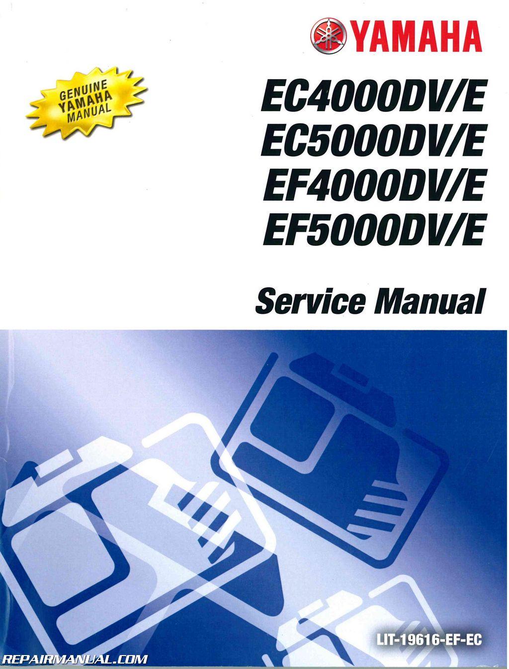 yamaha ec ef 4000dv e ec ef 5000dv e generator service manual rh repairmanual com yamaha generator manuals online yamaha generator manual download 4500 ise