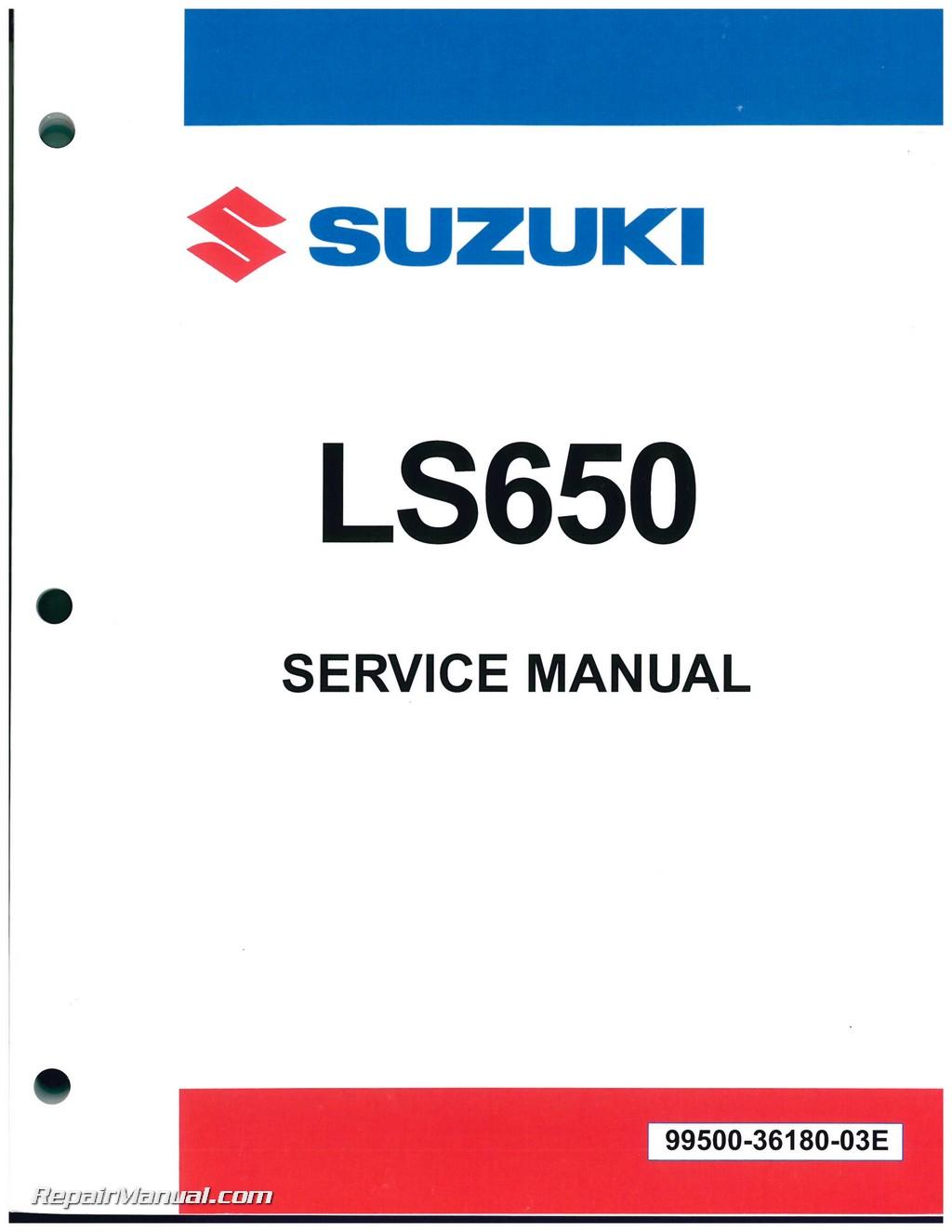 LS650 Savage / S40 Boulevard 1986-2009 Suzuki Motorcycle Service Manual
