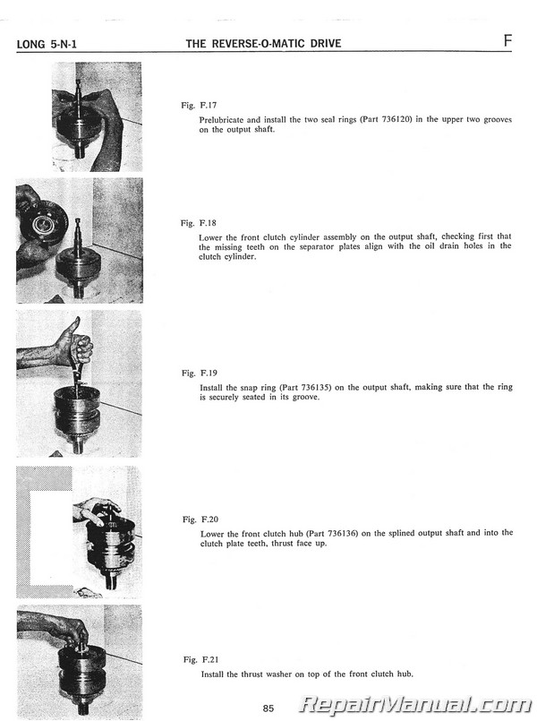 Long 1400 Tractor Loader Backhoe 5 N 1 Series Service Manual