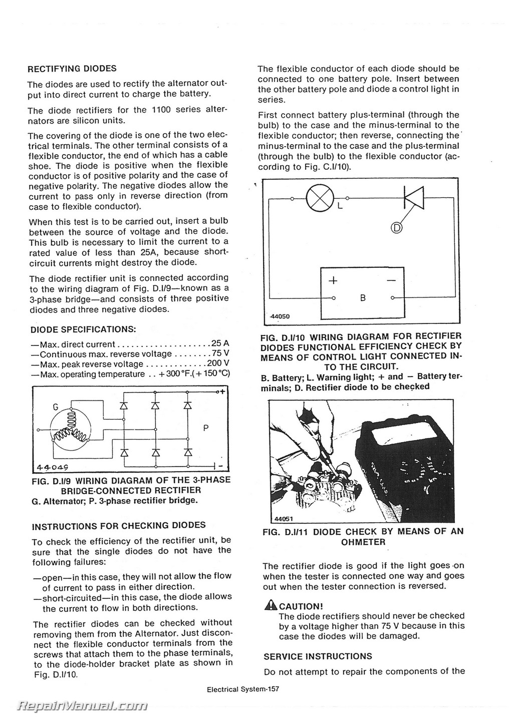 Long 260 310 2 Cylinder Tractor Service Manual Light Wiring Diagram