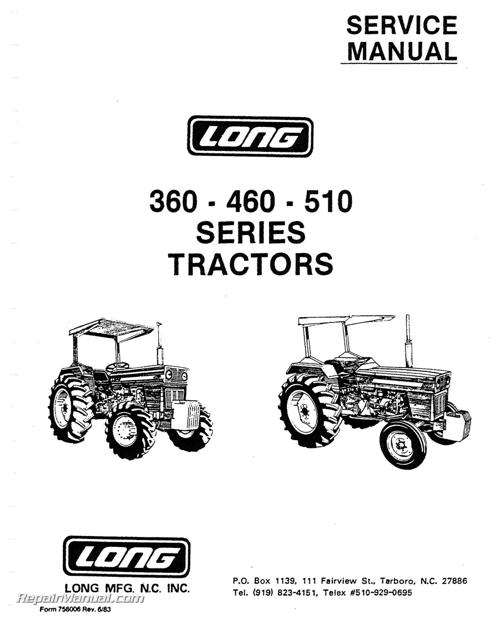 Long 360 460 510 Series Tractor Service Manual_Page_1 long tractor manuals repair manuals online wiring diagram for 2610 long tractor at eliteediting.co