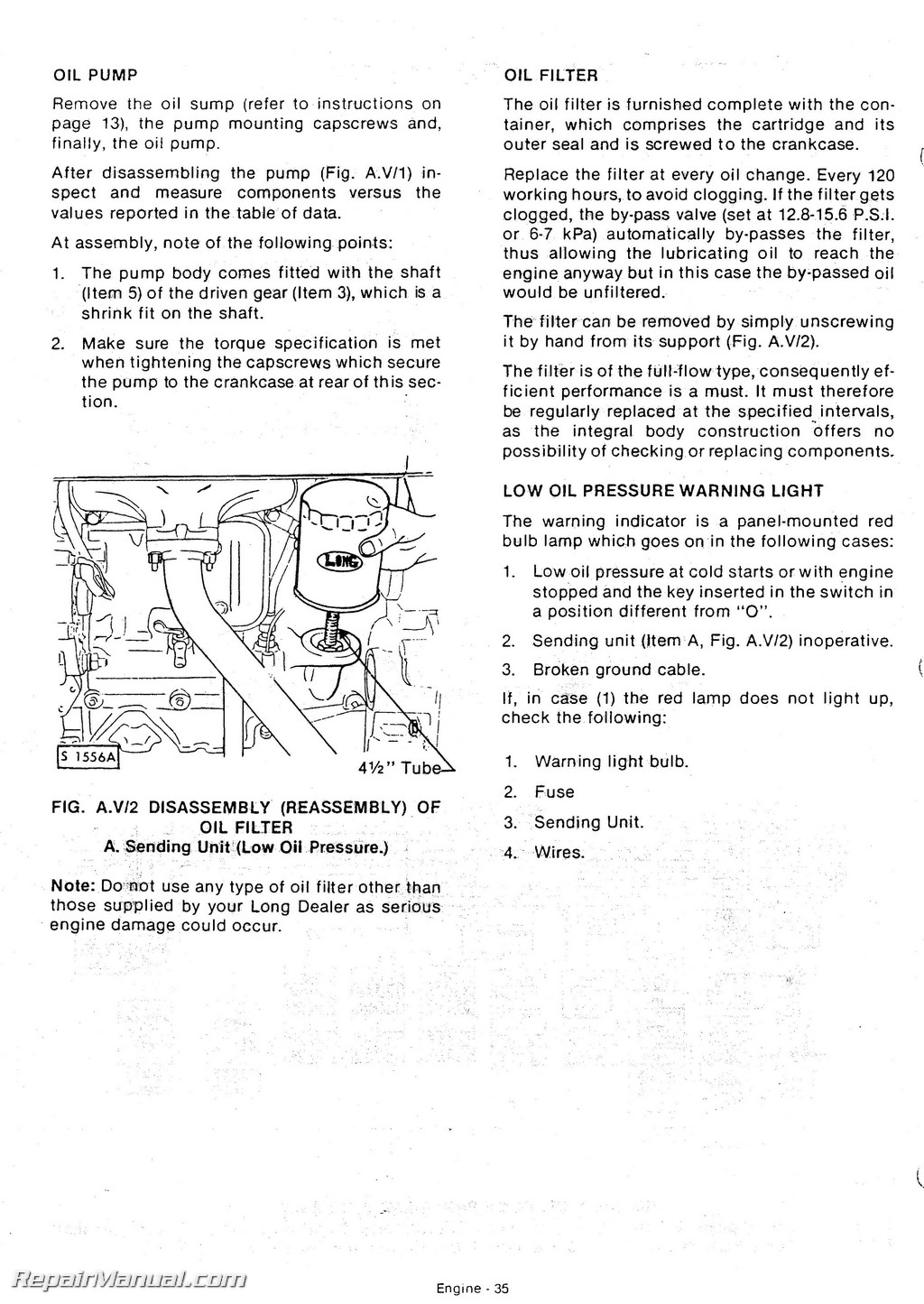 long 560 610 tractor service workshop repair manual repair manual page 3 long 560 610 tractor service workshop repair manual page 2