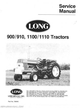 Long 360 460 510 Series Tractor Service Manual  Long Tractor Wiring Schematic on