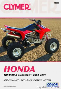 2004-2009 Honda TRX450 TRX 450ER ATV Repair Service Manual by Clymer 1