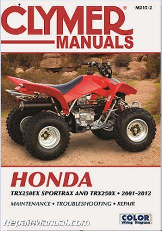Clymer 2001-2012 Honda TRX250EX Sportrax TRX250X Repair Manual