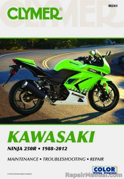 Clymer Kawasaki Ninja 250R 1988 - 2012 Maintenance Troubleshooting Repair Manual