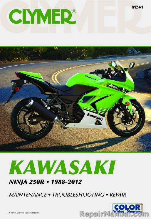 Clymer Kawasaki Ninja 250R 1988 – 2012 Maintenance Troubleshooting on