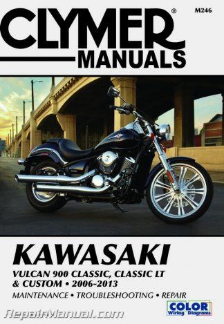 2006-2013 Kawasaki Vulcan 900 Classic, Classic LT & Custom Clymer Manual