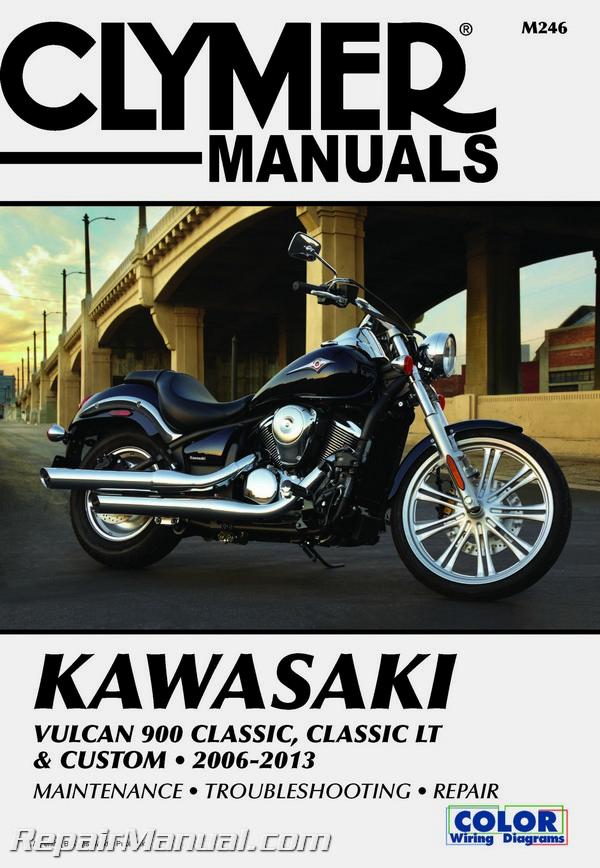 2006 2013 kawasaki vulcan 900 classic classic lt custom clymer rh ebay co uk Kawasaki Mule Wiring Harness Kawasaki Mule Wiring Harness