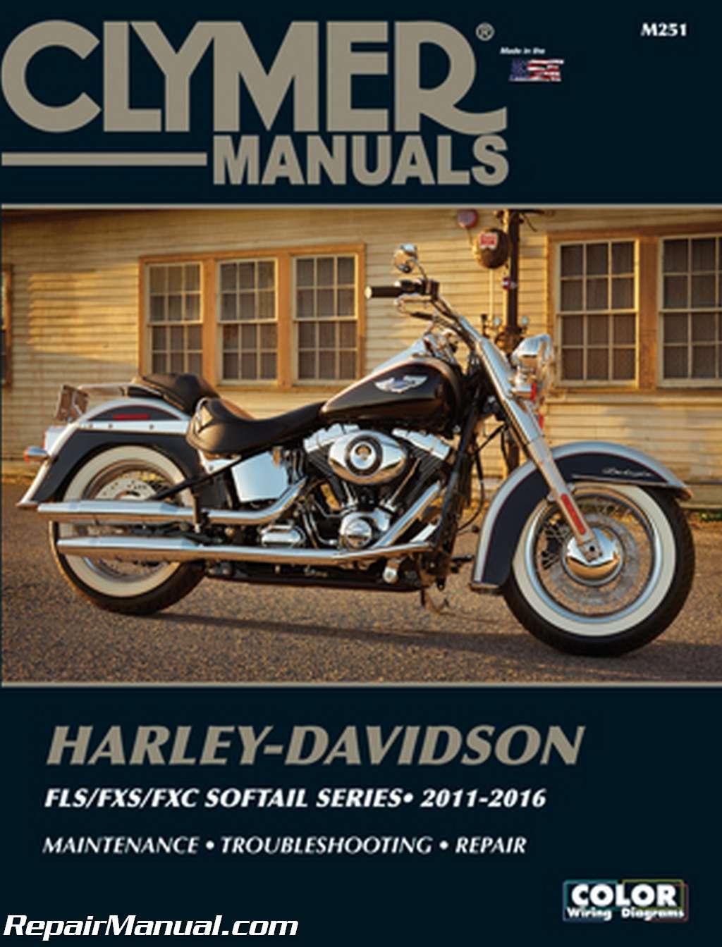 Harley Davidson Fls Fxs Fxc Softail Series 2011 2016 Clymer Davidsoncar Wiring Diagram Motorcycle Repair Manual
