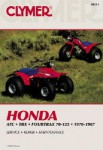 Clymer Honda ATC TRX Fourtrax 70-125 1970-1987 Repair Manual