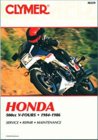 Clymer Honda 500cc V-Fours 1984-1986 Repair Manual