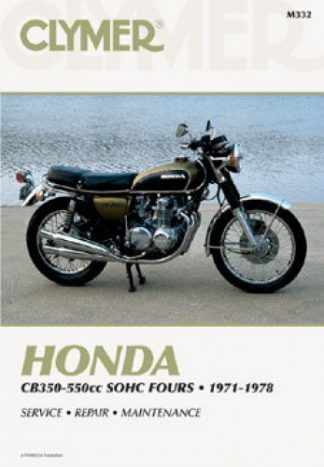 Clymer Honda 350-550cc SOHC Fours 1971-1978 Repair Manual