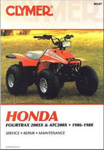 Clymer Honda Fourtrax 200SX ATC200X 1986-1988 Repair Manual