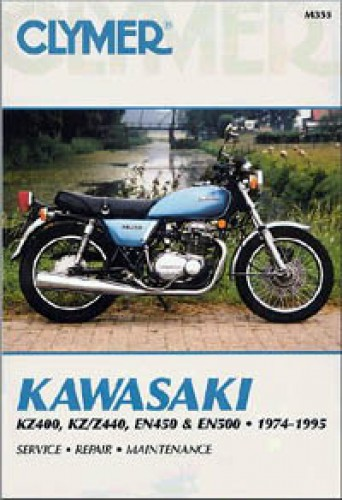 Kawasaki KZ400 KZ Z440 EN450 EN500 Repair Manual 1974-1995 Clymer