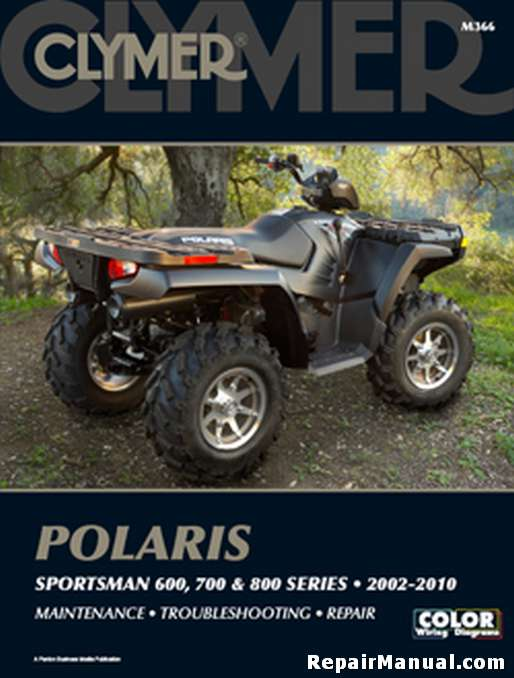 2002 2010 polaris sportsman 600 700 800 atv repair manual by clymer rh repairmanual com atv repair manuals online honda atv repair manual