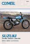 Suzuki TC TM TS RL RV 125-400cc Motorcycle Repair Manual 1964-1981