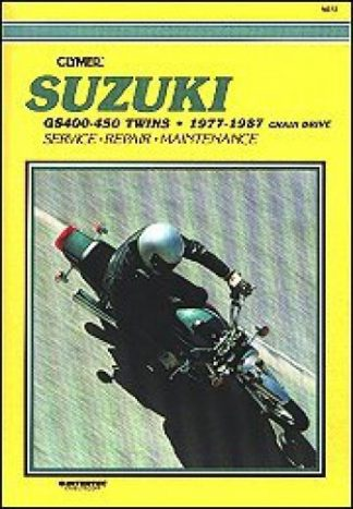 Clymer Suzuki GS400-450 Twins 1977-1987 Chain Drive Repair Manual