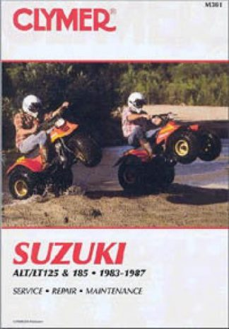 Clymer Suzuki ALT LT125 185 ATV Repair Manual 1983-1987